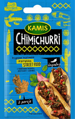 Blue Pack shot of Chimichurri Street Food Seasoning